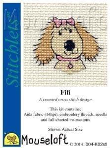 Mouseloft Fifi The Dog Stitchlets cross stitch kit